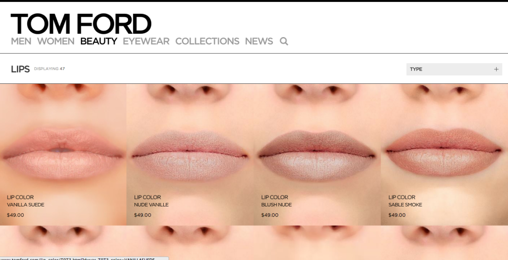 BeautyAddict.com Tom Ford Lips